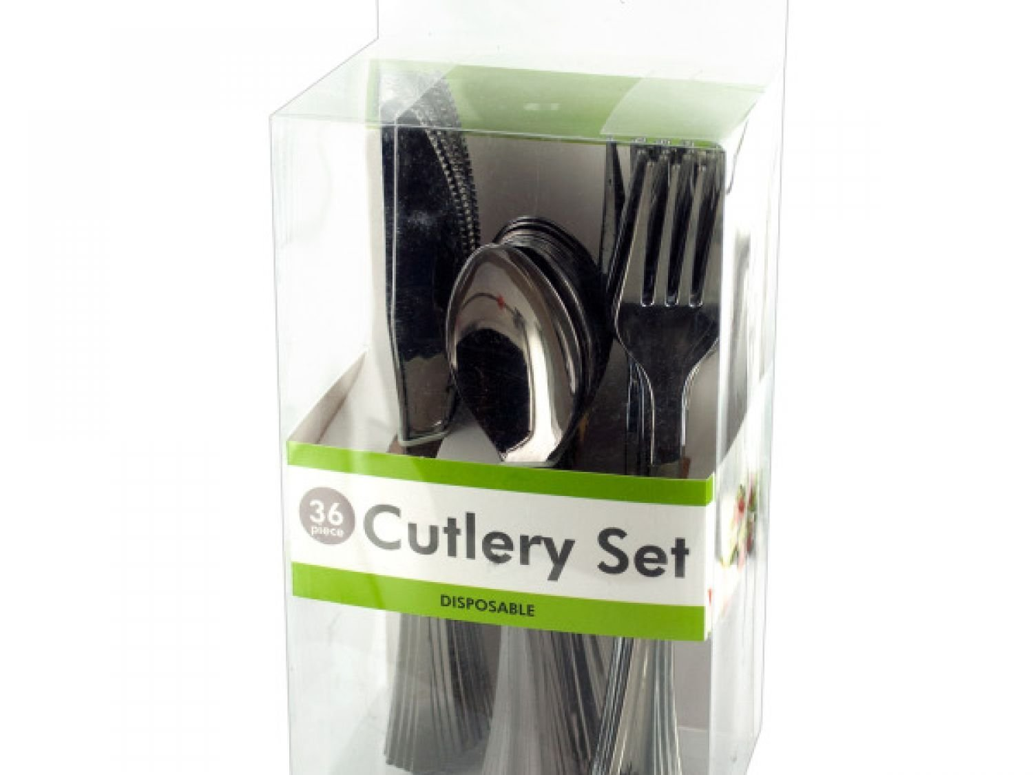 Disposable Silver Plastic Cutlery Set - Set of 4, [Kitchen & Dining, Cutlery]