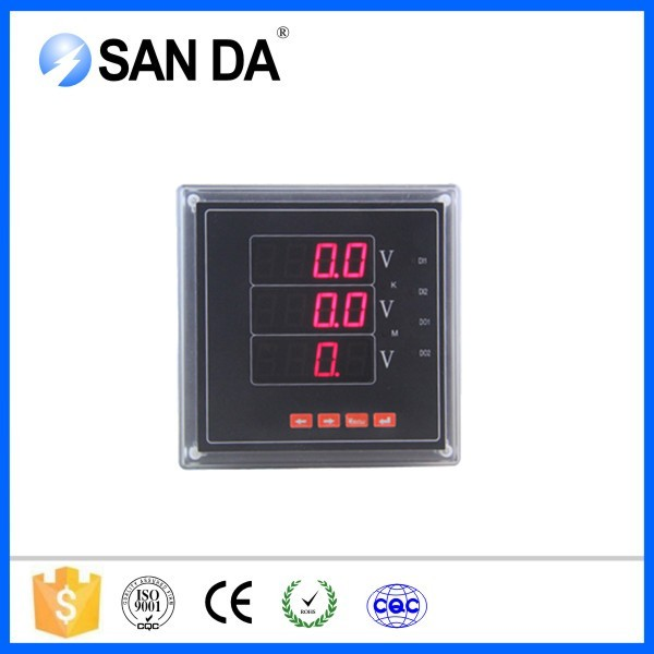 high quality panel digital output voltmeter ac dc voltage 480 volt 1 phase wiring diagram