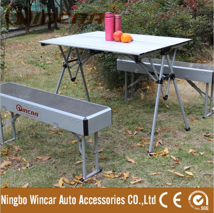 Portable folding table and chair set Aluminum Folding Beach Table