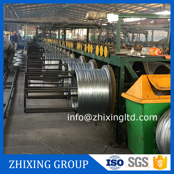 electro galvanized high carbon mattress spring steel wire