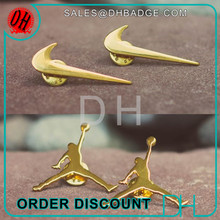 Air Jordan Sneaker Decorations Gold Nike Swoosh Metal Pin