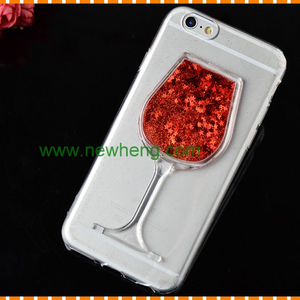 Fashion Dynamic Flowing Sand glass Hourglass Glitter Quicksand Case for iphone 7