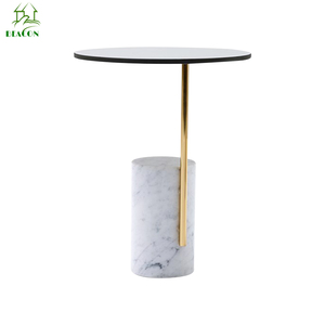 modern Hot sale fashional style mable/ceramic top brass coffee table with metal leg