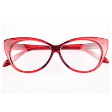 Горячая Распродажа 2017, новые дизайнерские очки кошачий глаз, Ретро стиль, модные черные женские очки, оправа, прозрачные линзы, винтажные оч...(Китай)