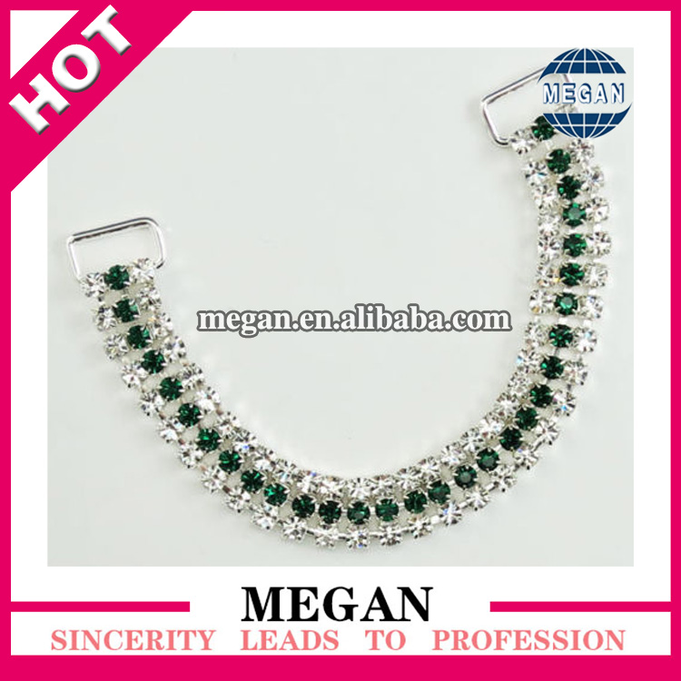 Swimwear Accessories Embellished Swimwear Glass Bikini Buckle/Long Rhinestone Bikini Connector For Swimsuit DecorationsSwimwear