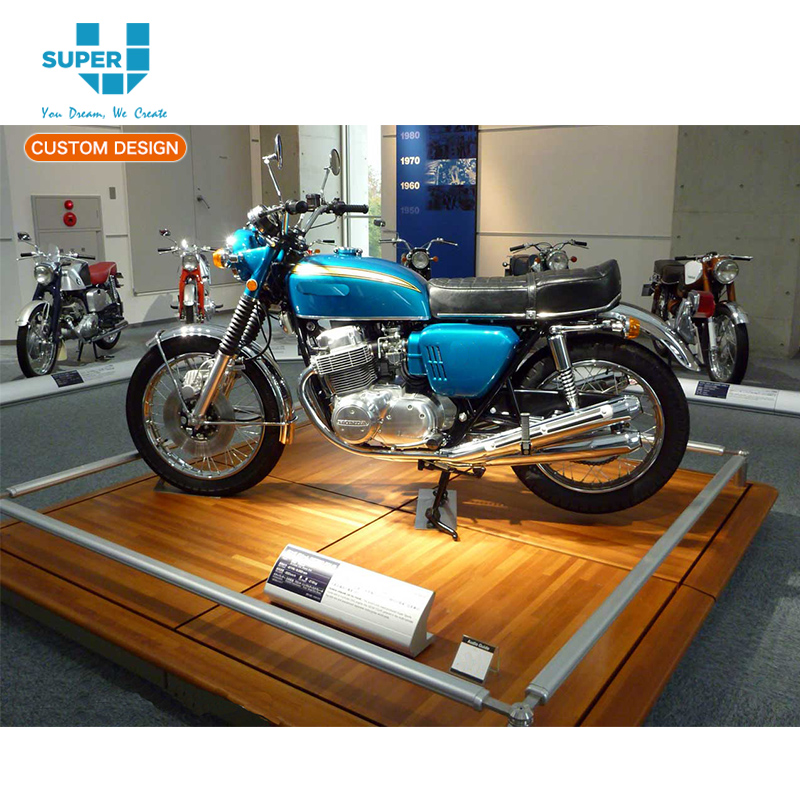 China Manufacturers Wholesale Wooden Motorcycle Display Stands And Motorcycle Stores Stand For Retail Stores