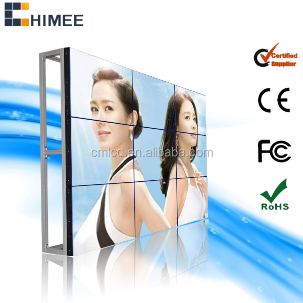 46inch Wall mount videowall system lcd video wall with video wall monitor