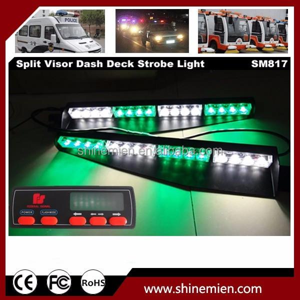 Vehicle Strobe Lights >> Emergency Vehicle Strobe Lights 12v Dash Ledlights 32 Led Split Visor Dash Light With Digital Screen Control Buy 12v Dash Led Lights Led Windshield