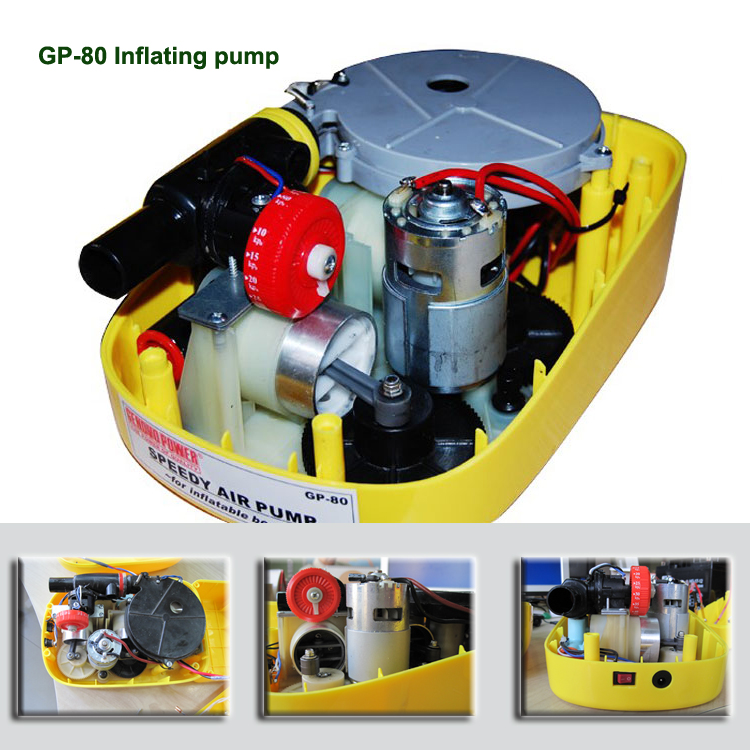For inflatable boats 80kpa High pressure 12V electric air pump / inflating pump