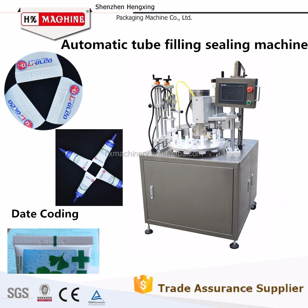 Liquid Plastic Tube Filling And Sealing Machine For Lotion