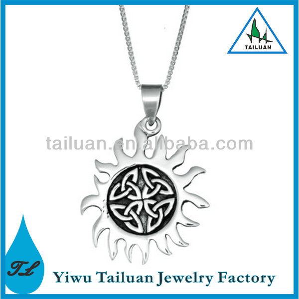 Wholesale Silver Celtic Trinity Sun Necklace
