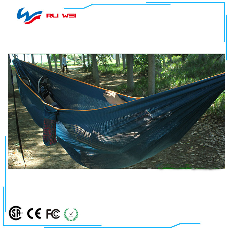 Factory direct 2017 new hammock outdoor fight color 270 * 150 ice silk anti-pull anti-rollover hammock wholesale