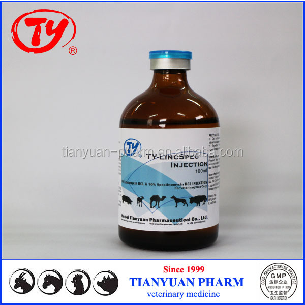 veterinary pneumonia antibiotics lincomycin spectinomycin injectable liquid for poultry