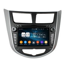 KD-7025 android 9.0 octa core px5 4 + 32 gb auto dvd sistema multimediale per Verna/Accent/Solaris 2011-2012 con il gps dsp car audio
