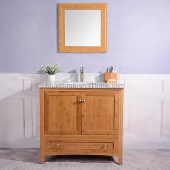 Tenon Joint Bamboo Bathroom Vanity