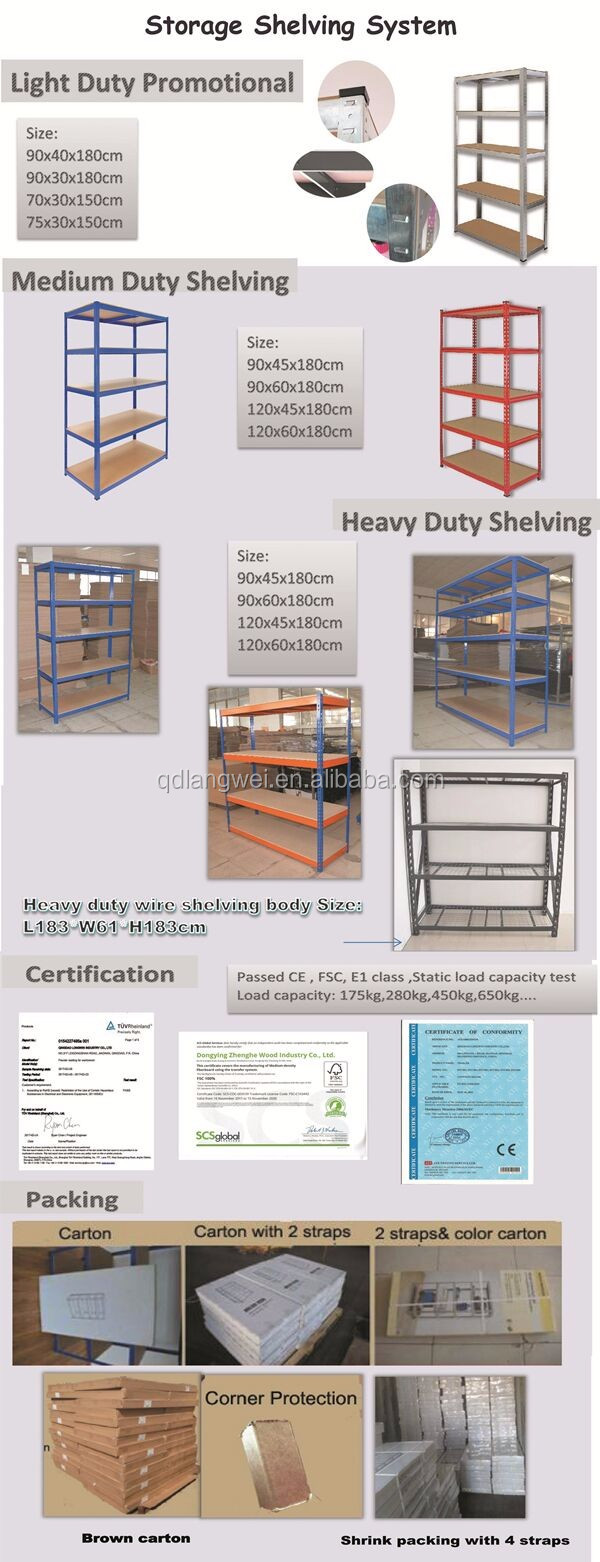 Commercial 4 Shelves Strong Way Steel Shelving Grocery Used Store ...