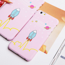 Pink universe Little Rocket waterproof craft dull polish hard PC phone cases for iphone6 iphone6 plus