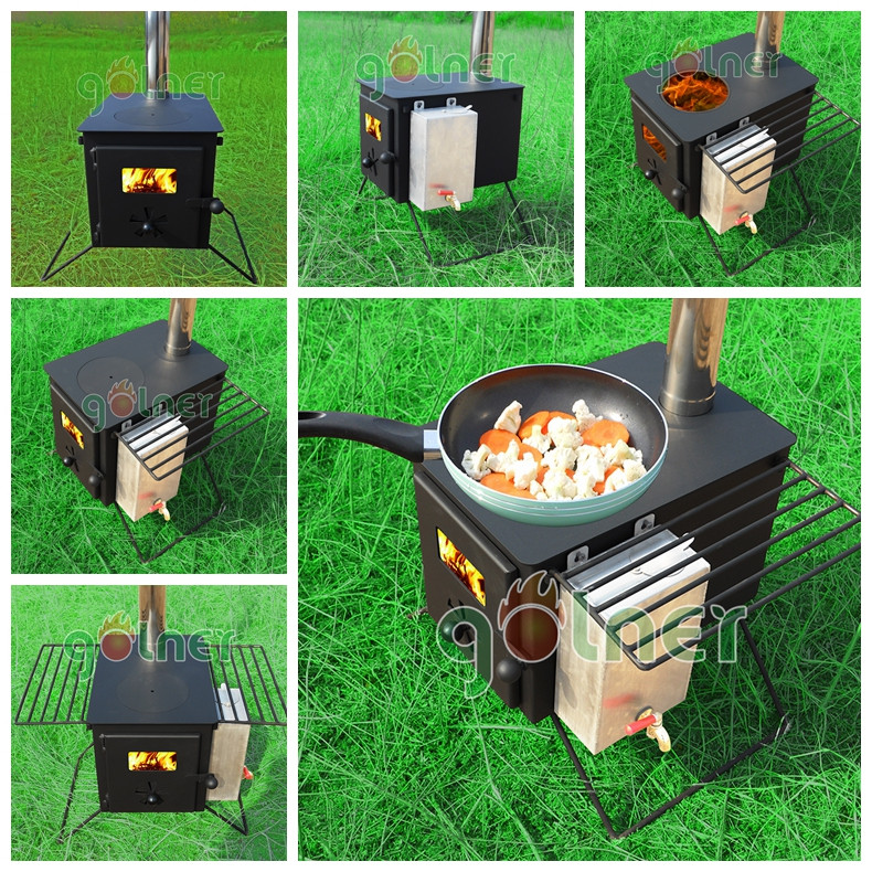 Outdoor tent stove wood burning,wood fired hot tub heater,wood cook stoves
