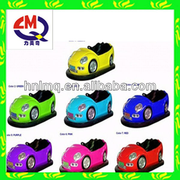 Amusement park exciting bumper cars with various beautiful designs!