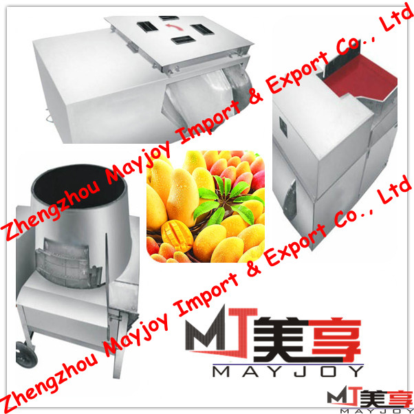 2013 newest high quality low price automatic hot sale mango cutting machine/mango slicing machine/mango peeling machine