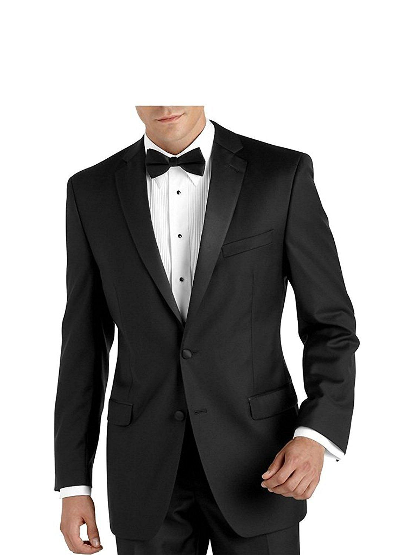 Adam Baker Mens Formal Regular Fit 2-Piece Double Breasted Peak Lapel 100/% Wool Tuxedo