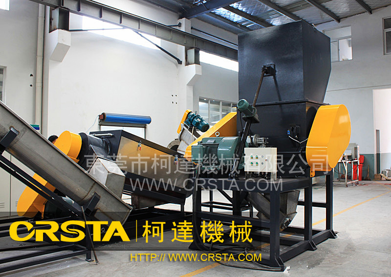 Waste PP woven bags, ton bags crushing washing pelletizing machines
