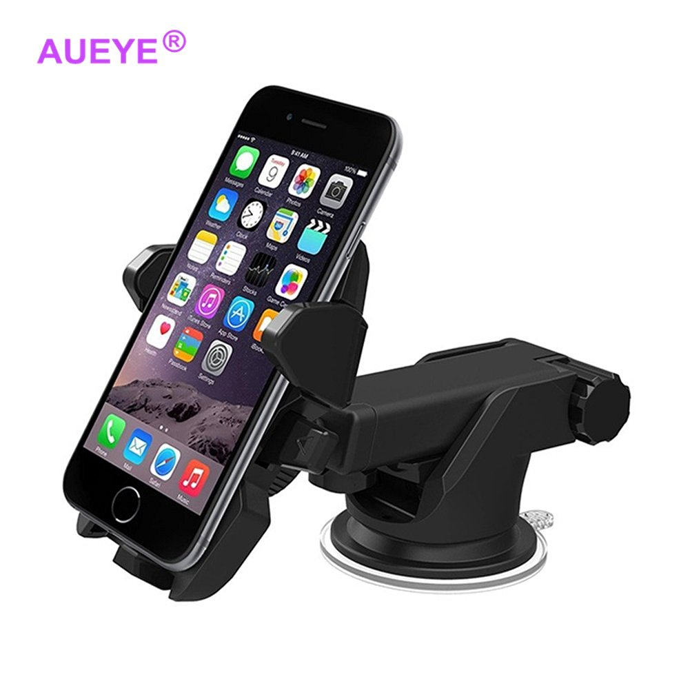 a1791840e4aad1 Get Quotations · Long Neck Phone Mount Aueye® Cell Phone Holder For Car  Dashboard One Touch Release Window