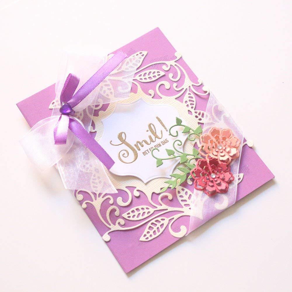 Cutting Dies,Pollyhb Wedding Angel Flower New Metal Cutting Dies Stencil DIY Scrapbooking Embossing Album Paper Card Craft (E)