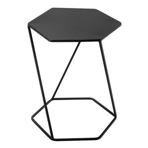 Wholesale living room black metal hexagon coffee table sofa side table ornaments furniture