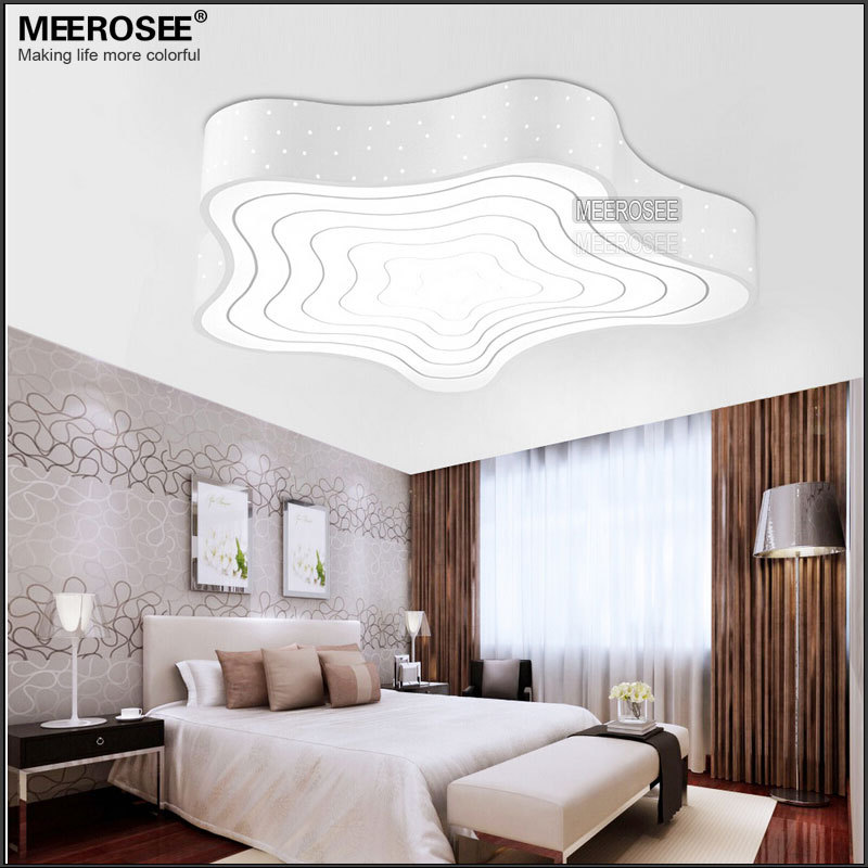 Art Decor Led Ceiling Lamp Annual Ring Design Light Star Shape ...