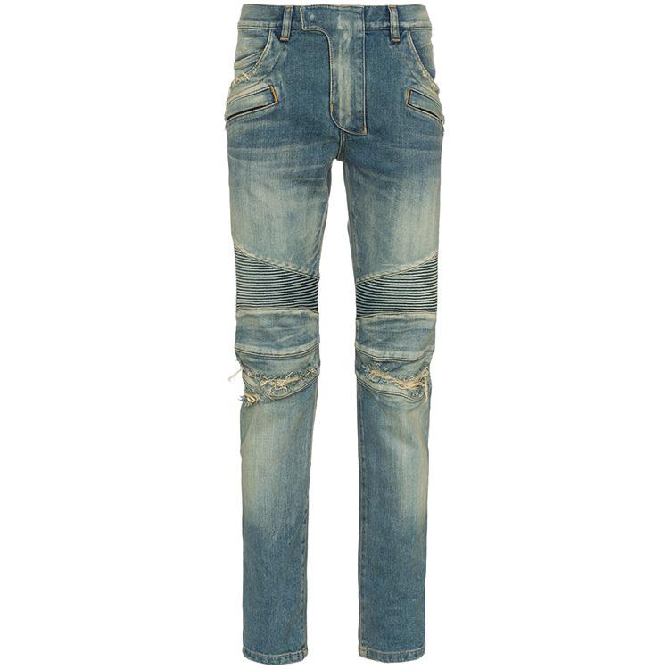 OEMที่กำหนดเองใหม่แฟชั่นบุรุษBikerกางเกงยีนส์สลิมฟิตยืดกางเกงยีนส์ผู้ชาย