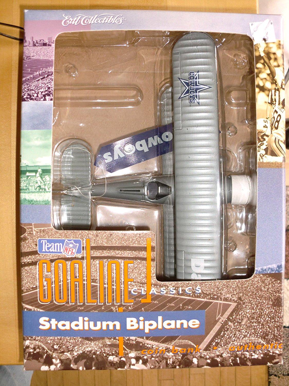 Ertl Collectibles NFL Team Goaline Classics Dallas Cowboys Stadium Biplane Coin Bank