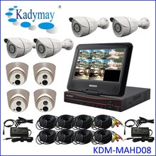 "DIY AHD 8ch Dvr System Kits With 10"" LCD Monitor Support Cloud Mobile View"