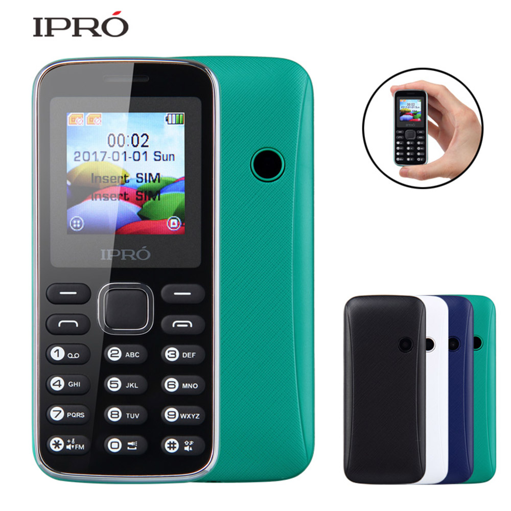 China manufacturer high quality IPRO Bee II 1.44inch feature phone original brand names dual sim multicolors 700 mAh