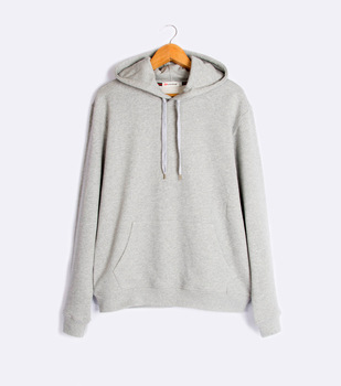 Amazon hot style wholesale french terry hoodies men grey color custom print blank hoodies