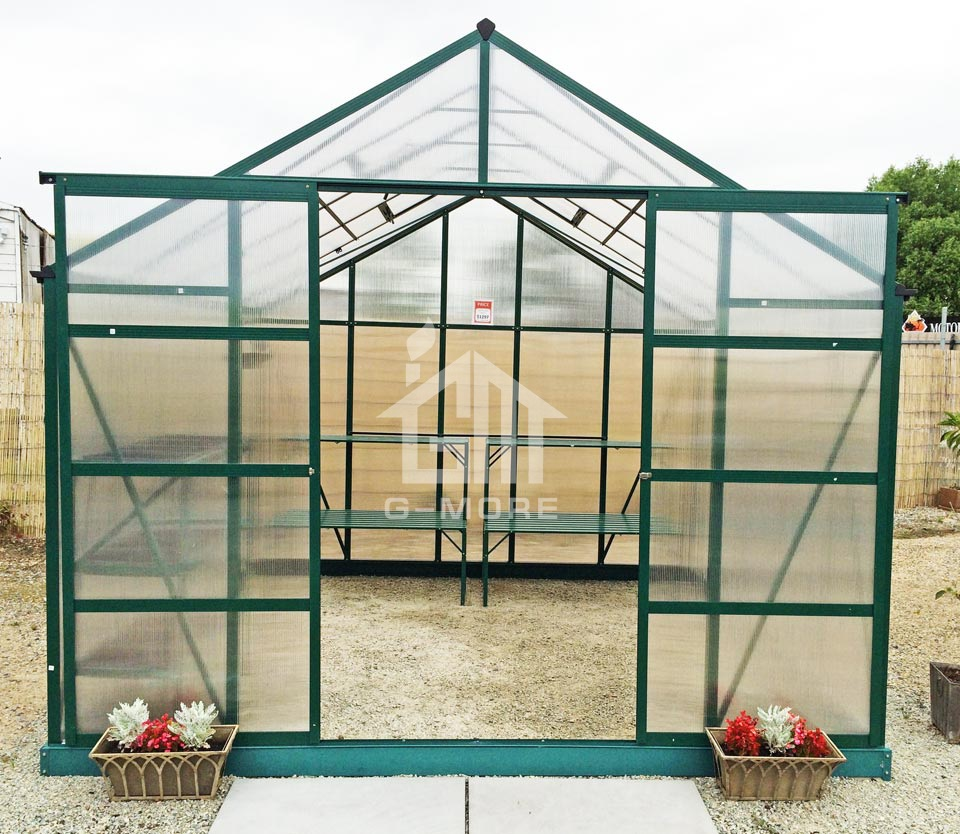 Polycarbonate sheet cover material growing flowers and vegetable transparent pc conservatory greenhouse