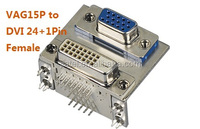 VGA 15Pin Female to DVI Connector Dual port DVI connector