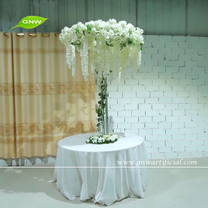 Gnw 4ft White Cherry Blossom Tree Wedding Table Tree Centerpieces