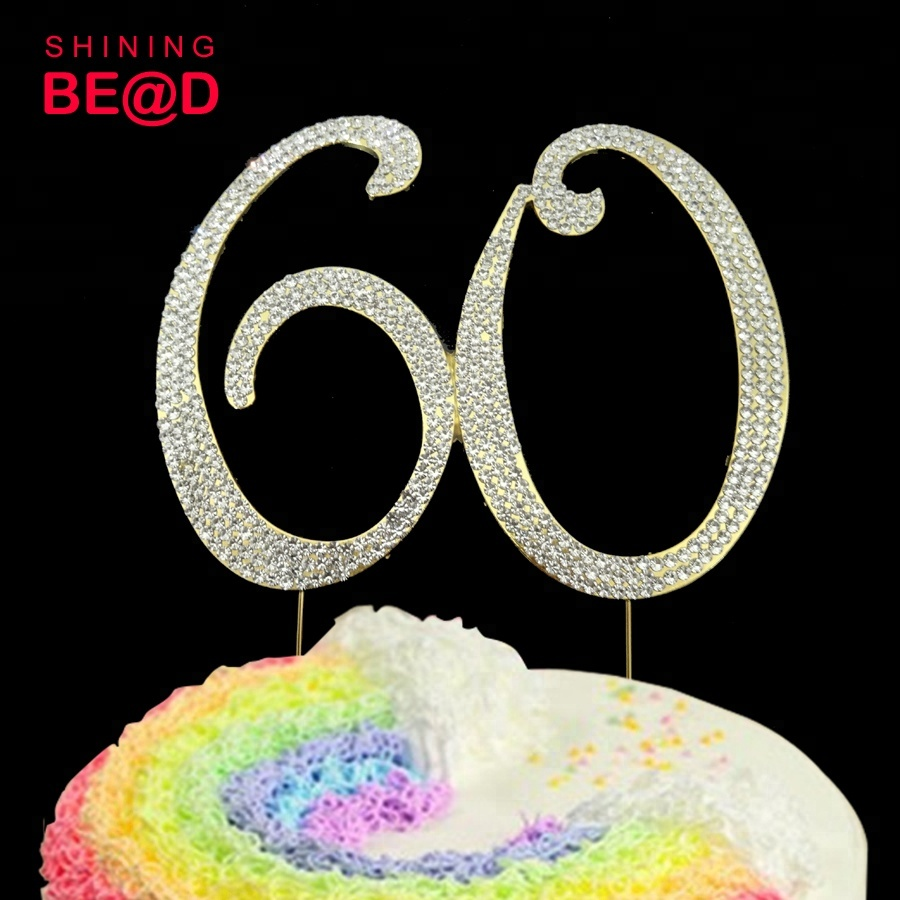 Swell Cake Toppers Number 0 Number Cake Topper Diamante Rhinestone Funny Birthday Cards Online Inifofree Goldxyz