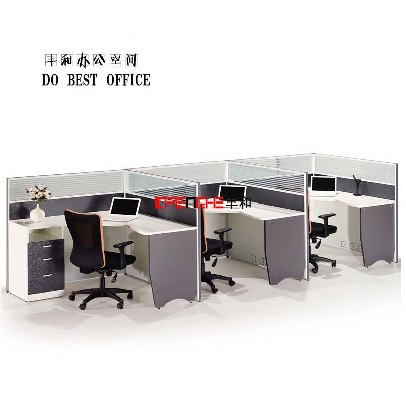 aluminum office partition profile, modular call center screen partition, call center workstation VS4103