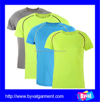 100%polyester dry fit t shirts bulk blank t shirts 1 dollars for wholesale