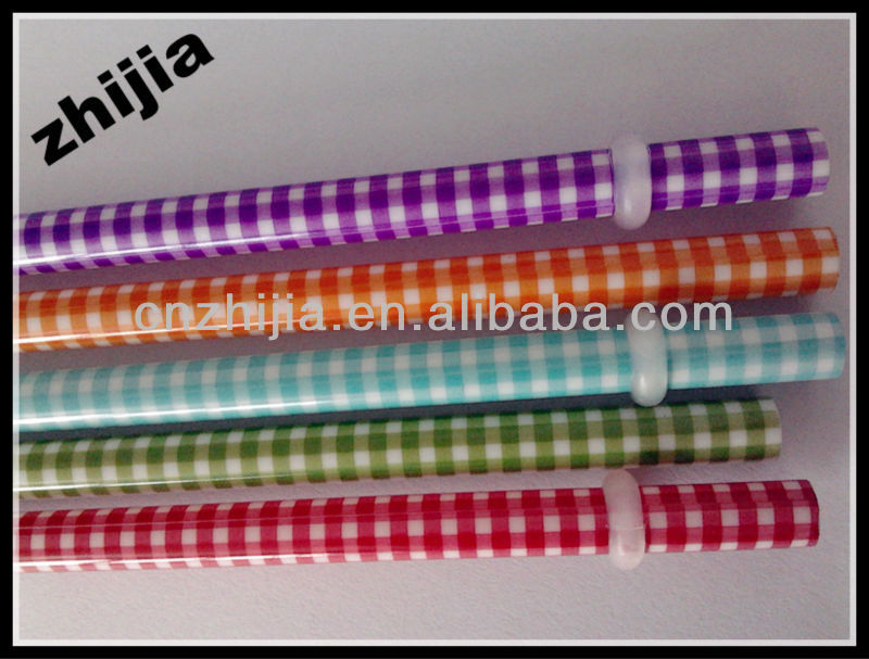 Hard plastic printing straw for drinking