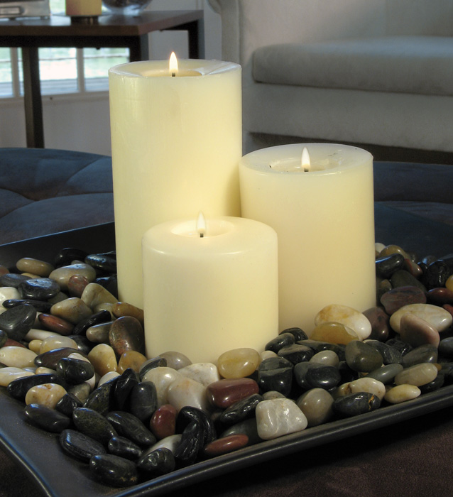 Smooth Surface Nature Stone Used For Candle Holder