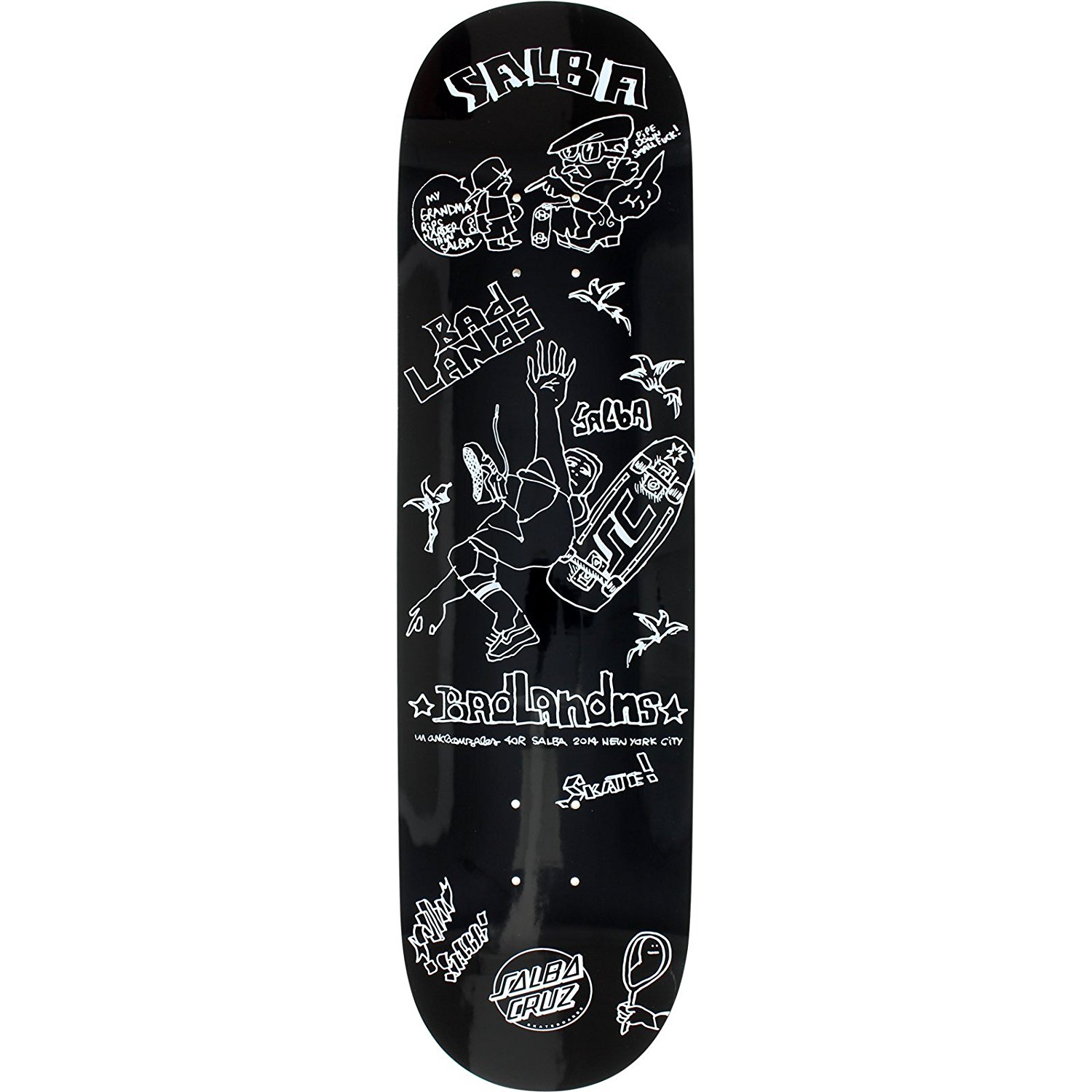 Santa Cruz Steve Alba x Gonz Popsicle Deck -8.37 Asst.Colors Assembled as Complete Skateboard