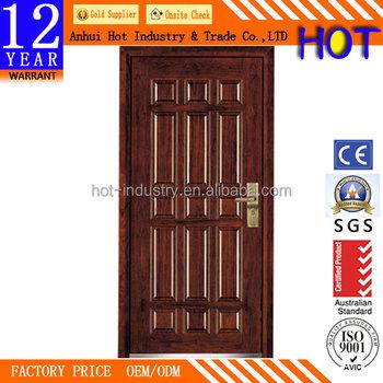 China Low Price Steel Exterior Powder Coating Door Popular