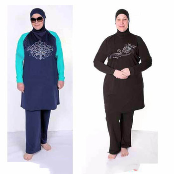 c8cb52df58ee2 Fully Covered Muslim Swimwear women's Modest swimsuit Islamic women's Beach  swimsuit Islamic Beach Swimwear Plus size