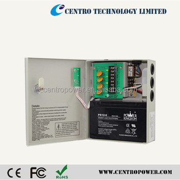 12v security system cctv camera power supply with battery backup