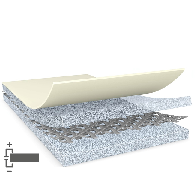 tesa 60256 200um double sided grey electrically conductive woven tape
