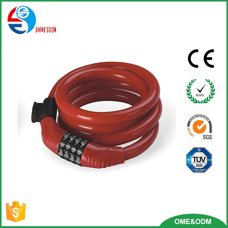 OEM bike cable lock hot sales bike lock Aluminum Shackle cable lock for bicycle