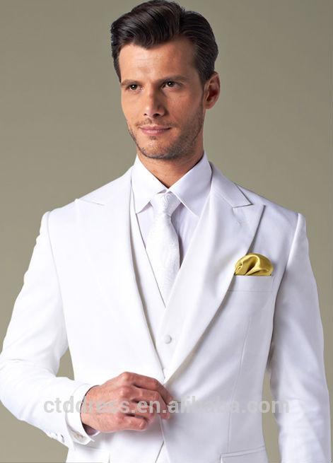 tres pieza de esmoquin blanco para los hombres trajes de gala identificaci n del producto. Black Bedroom Furniture Sets. Home Design Ideas